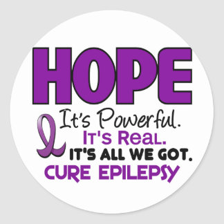 ESPERANZA 1 de la epilepsia Pegatina Redonda