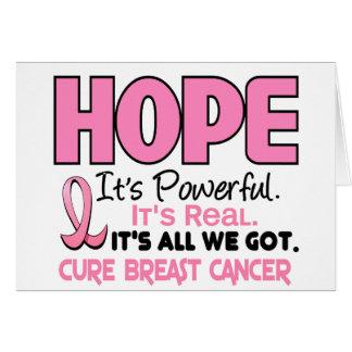 ESPERANZA 1 del cáncer de pecho Tarjeta De Felicitación