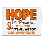 ESPERANZA 1 del cáncer del riñón Tarjetón