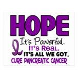 ESPERANZA 1 del cáncer pancreático Tarjetas Postales