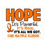 ESPERANZA 1 del ms de la esclerosis múltiple Tarjetas Postales