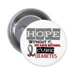 ESPERANZA 2 de la diabetes Pins