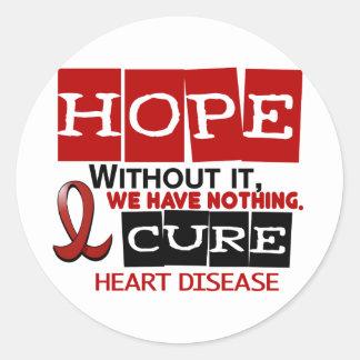 ESPERANZA 2 de la enfermedad cardíaca Etiquetas Redondas