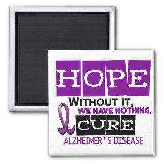 ESPERANZA 2 de la enfermedad de Alzheimer Imán Cuadrado