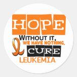 ESPERANZA 2 de la leucemia Etiquetas Redondas
