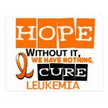 ESPERANZA 2 de la leucemia Tarjetas Postales