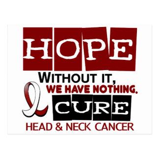 ESPERANZA 2 del cáncer de cabeza y cuello Postales