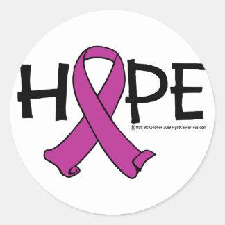 ESPERANZA 2 del cáncer pancreático Pegatina Redonda