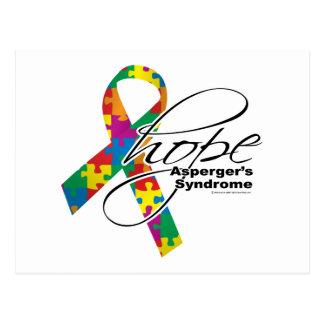 Esperanza 2 del síndrome de Asperger Tarjeta Postal