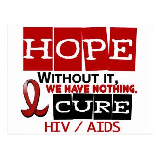 ESPERANZA 2 DEL VIH DEL SIDA TARJETAS POSTALES