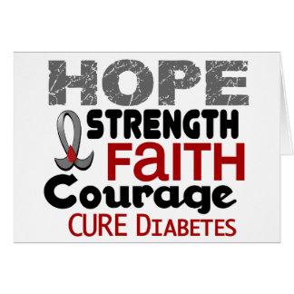 ESPERANZA 3 de la diabetes Tarjeta