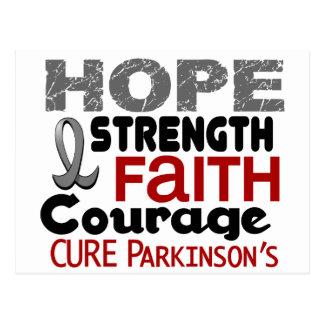 ESPERANZA 3 de la enfermedad de Parkinson Tarjeta Postal
