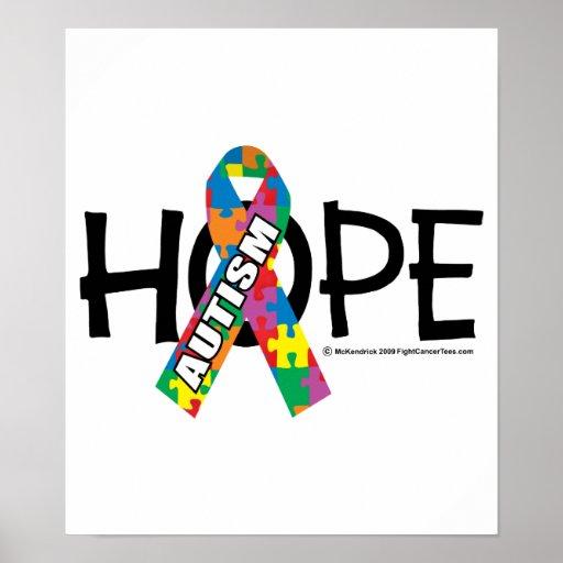 Esperanza 3 del autismo póster