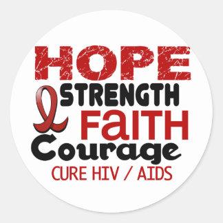 ESPERANZA 3 DEL VIH DEL SIDA PEGATINA REDONDA