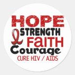 ESPERANZA 3 DEL VIH DEL SIDA PEGATINAS REDONDAS