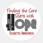 ESPERANZA 4 de la diabetes Etiqueta Redonda