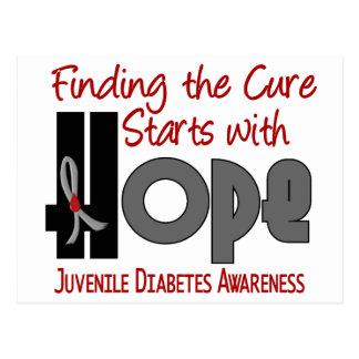 ESPERANZA 4 de la diabetes juvenil Postales