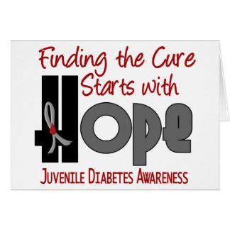 ESPERANZA 4 de la diabetes juvenil Tarjeta De Felicitación