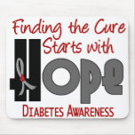 ESPERANZA 4 de la diabetes Tapetes De Ratón