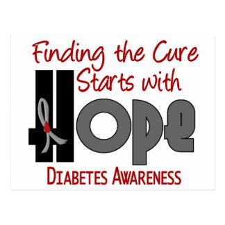 ESPERANZA 4 de la diabetes Tarjeta Postal