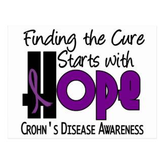 ESPERANZA 4 de la enfermedad de Crohn Postales