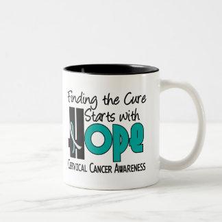 ESPERANZA 4 del cáncer de cuello del útero Taza Dos Tonos