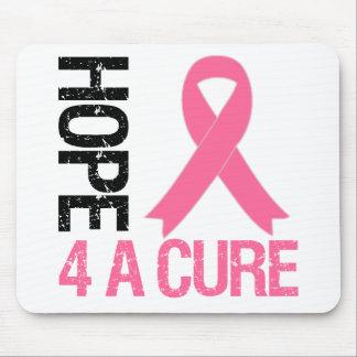 Esperanza 4 del cáncer de pecho una curación tapete de ratón
