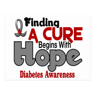 ESPERANZA 5 de la diabetes Tarjetas Postales