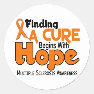 ESPERANZA 5 del ms de la esclerosis múltiple Etiquetas Redondas