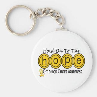 ESPERANZA 6 de la conciencia del cáncer de la niñe Llavero Redondo Tipo Pin