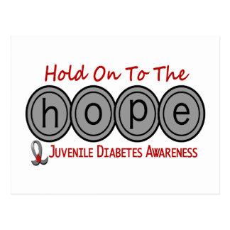 ESPERANZA 6 de la diabetes juvenil Tarjeta Postal