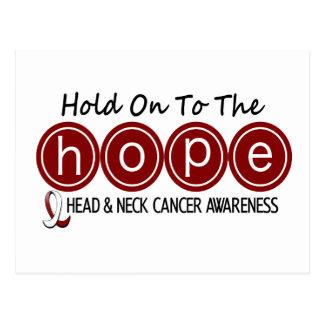 ESPERANZA 6 del cáncer de cabeza y cuello Postales