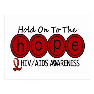 ESPERANZA 6 DEL VIH DEL SIDA TARJETAS POSTALES