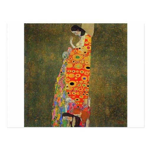 Esperanza abandonada Klimt de Gustavo Tarjeta Postal
