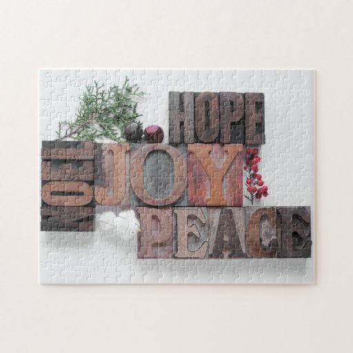 esperanza, alegría, paz, rompecabezas del noel