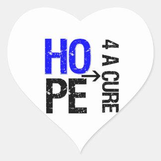 Esperanza anal del cáncer de una curación pegatina en forma de corazón