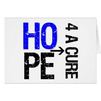 Esperanza anal del cáncer de una curación tarjeta de felicitación