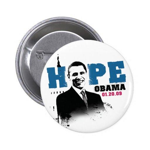 Esperanza - botón de Obama Pins
