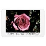 Esperanza color de rosa hermosa, fe, imán del valo