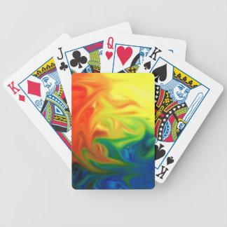 esperanza colorida del color abstracto del cartas de juego