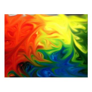 esperanza colorida del color abstracto del postales
