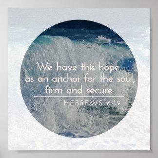 Esperanza como ancla Poster-Hebrews6 inspirado: 19 Póster