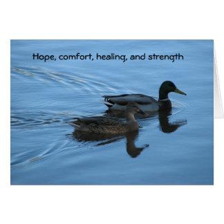 Esperanza, comodidad, cura, y fuerza tarjeta de felicitación