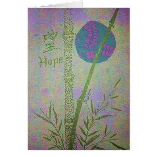 Esperanza con el bambú tarjeta pequeña