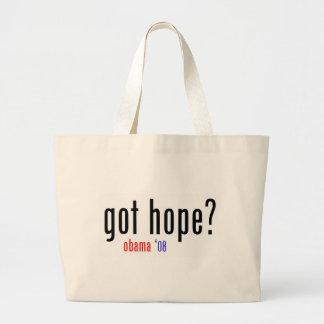 ¿esperanza conseguida? obama 08 bolsa tela grande