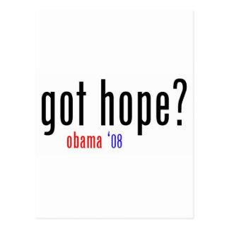 ¿esperanza conseguida? obama 08 postales