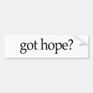 Esperanza conseguida pegatina de parachoque