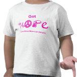 Esperanza conseguida - rosa camisetas