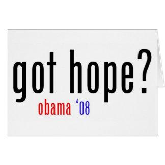 ¿esperanza conseguida? tarjeta de felicitación