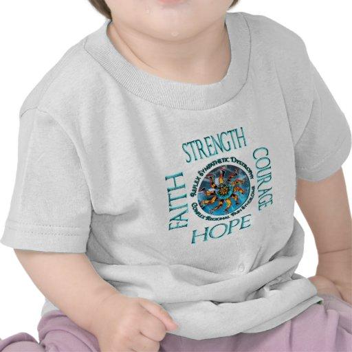Esperanza CRPS RSD del valor de la fuerza de la fe Camisetas